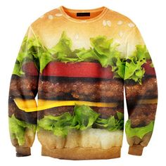 Sweat imprimé mixte hamburger - Mr Gugu and Mr Gugu Ugly Sweater, Swagg, Salmon Burgers, Food Styling, Snack Recipes, Just For You, Graphic Sweatshirt, Graphic Sweaters, Graphic Tees