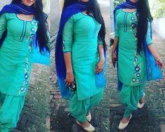 Blue Combo Punjabi Suit Punjabi Suits Designer Boutique, Boutique Suits, Indian Designer Suits, Designer Party Wear Dresses, Kurti Designs Party Wear, Kurta Designs, Indian Salwar Suit, Salwar Suits, Shalwar Kameez