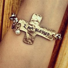 I Am Blessed Cross Bracelet