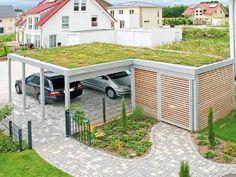 Double carport: The cheap garage alternative - Hof&Garten - Double Carport, Carport Garage, Pergola Carport, Double Garage, Pergola Plans, Diy Pergola, Diy Garage, Modern Carport, Garage Bathroom