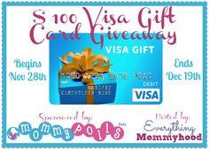 $100 Visa Gift Card Giveaway! - http://www.stacyssavings.com/visa-gift-card-giveaway/