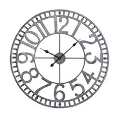 Found It At Clockway Com 17 3 4in Howard Miller Quartz Round Wall Clock Chm2362 Howard Miller Wall Clock Clock Iron Wall