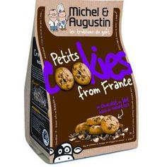 Les composants: Le contenant: L'emballage en papier semi rigide contient 40 Cookies et rappelle le format du pack lunch. Il n'est pas doté d'un système de fermeture, nous pouvons nous interroger sur la conservation. Le décor : L'image renvoyée par la marque est fun, légère et sympathique (vache et typographie infantile). Elle est pour Michel Augustin un facteur de différenciation non négligeable.