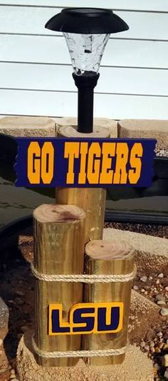Def. not LSU for this house... But love the concept.... It would look better in Crimson and White.....With GO BAMA!!! .  Handmade Solar Light Crafts | solar light