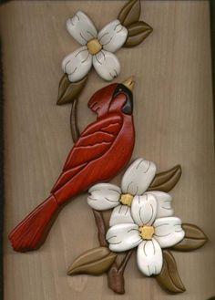 Cardinal on Dogwood Branch