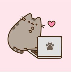 Norma loved these pins.....Pusheen on Laptop
