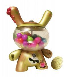 Dunny BubbleGum-Machine Gold Variant