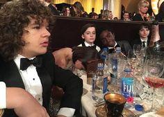 Stranger Things: Gaten Matarazzo, Millie Bobby Brown, Noah Schnapp, Caleb McLaughlin, and Finn Wolfhard (photo via Millie's Instagram)