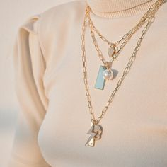 Build your dream necklace customise your tags and represent someone you love or a milestone Tap to shop or #linkinbio #GAjewelry #CharmsClub #JewelryStories