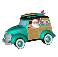2014 Surfin Safari Santa Hallmark Magic Ornament - Hooked on Hallmark Ornaments