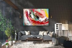 Items similar to Large Painting on Canvas,Original Painting on Canvas,modern wall canvas,abstract originals,huge canvas painting on Etsy Oversized Canvas Art, Large Canvas Art, Abstract Canvas Art, Wall Canvas, Large Art, Modern Oil Painting, Modern Art Paintings, Large Painting, Painting Art