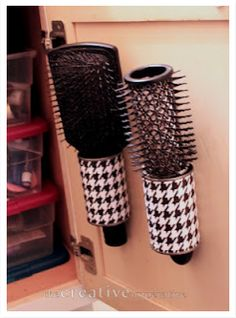 DIY Easy Hairbrush Holder - Passionate Penny Pincher