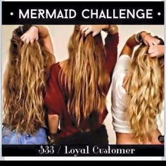 You know I LOVEEE CHALLENGES! Want LONGER HAIR?⁉️ Want THICKER HAIR⁉ Then you WANT IN MERMAID Hair Growth Challenge! Who wants to do this 90 day Challenge⁉️ YOUR LUCKY because of the OVERWHELMING LOVE for this AMAZING supplement I have opened up 3 more spots!! :)  Get this AMAZING hair growth product at wholesale prices. Hurry...first THREE!!! Spots fill up fast....Message me here, comment below HELP MY HAIR or text me 315-408-6033