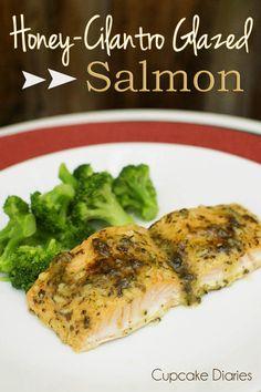 Honey-Cilantro Glazed Salmon from Gourmet Garden on cupcakediariesblog.com | #salmon #recipe #entree