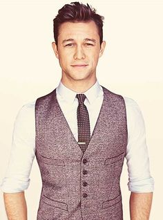 Joseph Gordon Levitt likes vests as much as me! men's fashion and style