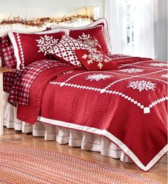 Crystal Snowflake Cotton Quilt- Home and Garden Design Ideas
