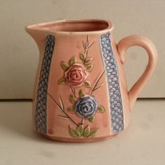 30's Japanese Basket Weave Cream Pitcher by WantedNS on Etsy, $17.00
