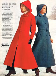 Sears 1971 Pretty close to my favorite coat ever! It was forest green! 60 Fashion, Fashion Beauty, Vintage Fashion, Fashion Design, Sixties Fashion, Retro Fashion, Mode Vintage, Vintage Ladies, Vintage Style