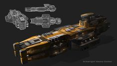 Arkwright Heavy Cruiser, Garret AJ on ArtStation at https://www.artstation.com/artwork/arkwright-heavy-cruiser