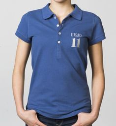 GIRLS - EQIP-11 polo - true navy. For girls who also want to radiate team spirit and sportsmanship off the field.