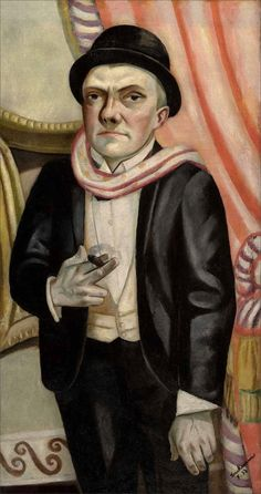 Max Beckmann · Self Portrait with Cigar · 1923 · Unknown location