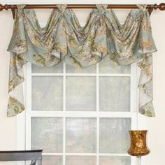 Shop RLF Home Floral Essence Victory Swag Window Valance - Overstock - 22520048 Home Decor Kitchen, Swag Curtains, Windows, Dining Room Windows, Lined Curtains, Living Room Windows, Valances For Living Room, Valance Curtains, Window Dressings