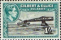 Gilbert and Ellice Islands 1939 SG 51 Cantilever Jetty Fine Used SG 51 Scott 48 Other Gilbert and Ellice Islands Stamps For Sale HERE Buy Stamps, Love Stamps, Ellice Islands, Postage Stamp Art, Vintage Stamps, King George, Commonwealth, Queen Elizabeth, Countries