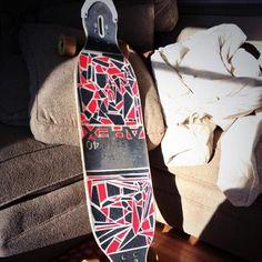 DIY + Apex 40 longboard by Original Skateboards = rad custom grip job thanks to @Twitter Inc.'s That_Carl_Kid