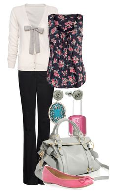 """""""Teacher Outfits on a Teacher's Budget 12"""" by allij28 ❤ liked on Polyvore featuring Lauren Conrad, MANGO, Essie, ASOS, women's clothing, women, female, woman, misses and juniors"""