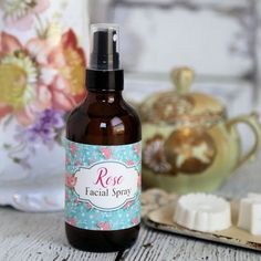 Homemade Rose Face Spray recipe and Free Printable Labels