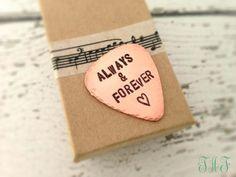 Always & Forever ♥ #Guitar Pick #Boyfriend Gift #Husband Gift #Valentine #Anniversary Gift
