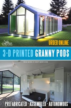 You grandma needs something more than a plywood shed! Get this hurricane & earthquake-resistant granny pod built and delivered to any spot! It's 100% Self-Sustainable. It comes prefabricated and assembled, no construction permits or no onsite work is necessary. This granny pod is really smart and can be a perfect alternative to assisted living.  #grannypods #grannypodsforsale #grannypodkits #tinyhouse Small Cabin Plans, A Frame House Plans, Container House Design, Container Houses, Pods For Sale, Modern Small House Design, Granny Pod, Basement Remodeling, Bathroom Remodeling