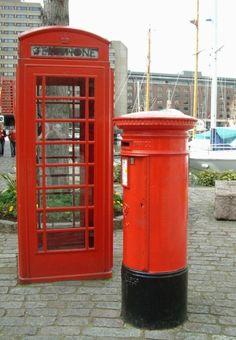 Telephone Box & Post Box in London