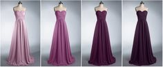 purple-ombre-bridesmaid-dresses
