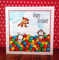 "card made by stef using Mama Elephant ""Up and away"""