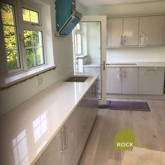 Bianco De Lusso - Albury, Herts - Rock and Co Granite Ltd How To Run Longer, Kitchen Cabinets, Home Decor, Decoration Home, Room Decor, Cabinets, Home Interior Design, Dressers, Home Decoration