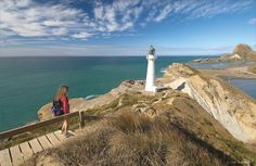 There are several good walks at Castlepoint including the boardwalk to the lighthouse, which has been operational since 1913. For a longer hike, follow the track through Castlepoint Scenic Reserve to Castle Rock, an impressive rock formation that was named by Captain James Cook in 1770.