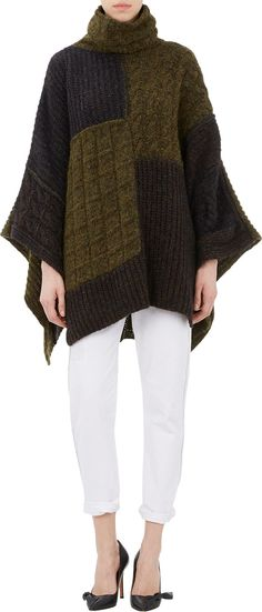 Isabel Marant Raquel Poncho Sweater: Fair warning: you will definitely be seeing me in a poncho this Fall. If I'm lucky, it'll be this cozy Isabel Marant patchwork one ($860).  — RM
