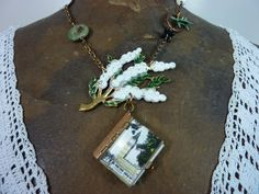 ANTIQUE LONDON LOCKET  vintage assemblage by PennysCastle on Etsy, $98.00