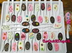 Chocolate Covered Spoon Party Treats