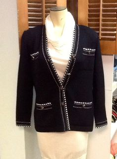 Vintage St. John Knit Black with White stitching by RESTYLE576, $65.00