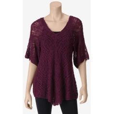 MI-170316-81225B-A%3F%24zm%24 Best Deal United States Sweaters Solid Color Textured Open Knit Sweater  Misses  Brown  XL  US Sweaters