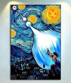This is true art DBZ meets Van Gogh Dragon Ball Z, Ouvrages D'art, True Art, Van Gogh, Cool Art, Anime Art, Canvas Art, Animation, Fan Art