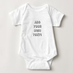 CUSTOMIZE YOUR OWN BABY BODYSUIT - shower gifts diy customize creative