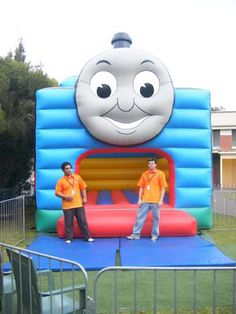 Great Thomas the tank engine bouncy castle. But where's the fat controller?