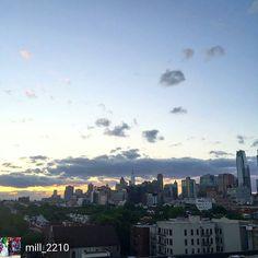 Photo by @mill_2210: #skyline #sunset #rooftopview #boerumhill #brooklyn #bk #nyc