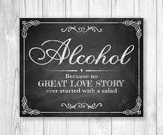 Chalkboard Wedding Sign Printable Wedding by ChalkaholicDigital