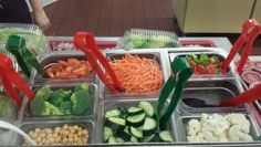 Lots of veggie choices today on the salad bar! Bonneville High School