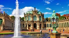 Germany Fountains Zwinger Dresden Palace