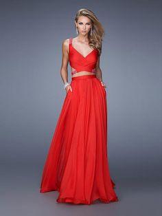 Linia A na ramiączkach Bez rękawów Szyfon Sukienki studniówkowe/Suknie wieczorowe z kryształkami #SP006